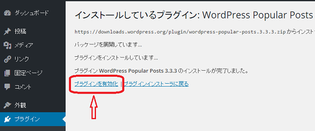 WordPress Popular Postsの設定3
