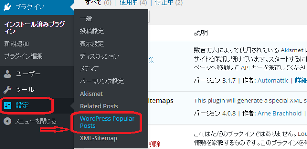 WordPress Popular Postsの設定5