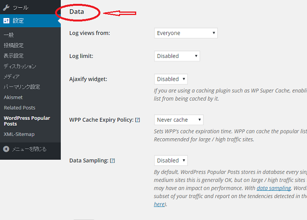 WordPress Popular Postsの設定9.2