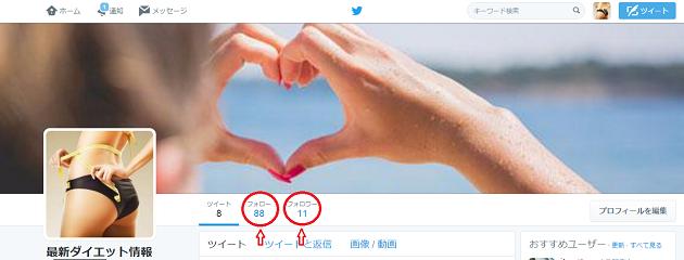 Twitteフォロワー増加